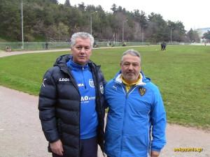 2014-15, 11η αγ. Μακεδονικός Κοζάνης - ΑΕΚ 1-1, Δημήτρης Καραθανάσης, Μάκης Μαλούτας