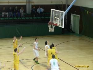 2014-15 16η αγ. ΑΕΚ-Βελβεντό 54-67