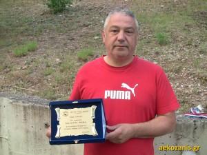 22-6-2015 Γιορτή Ακαδημίας ΑΕΚ, ο Μάκης Μαλούτας τιμήθηκε για την προσφορά του.
