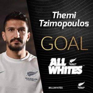 Θένης Τζημόπουλος, πρώτο διεθνές γκολ με την Εθνική Νέας Ζηλανδίας, 28-5-2016, Νέα Ζηλανδία - Φίτζι 3-1